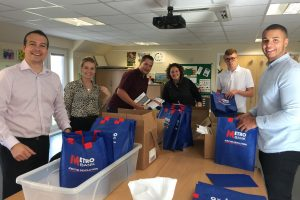 Ashridge Group stuffing goody bags
