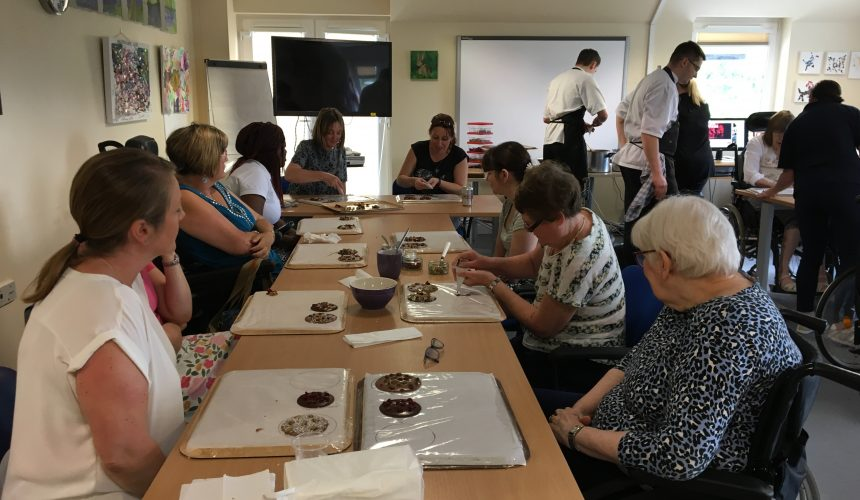 Chocolate making at the Centre