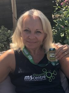 Mandy Mosley with her Chilterns 100k medal