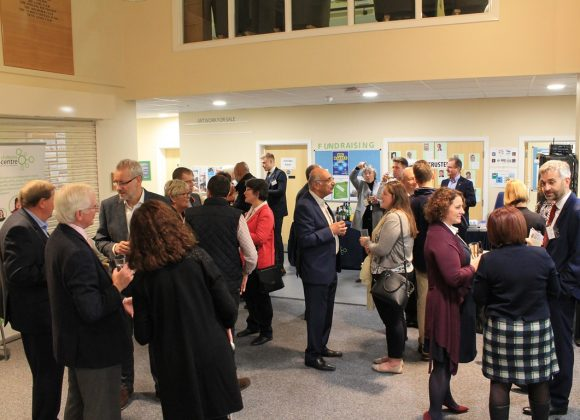people attending a corporate network evening