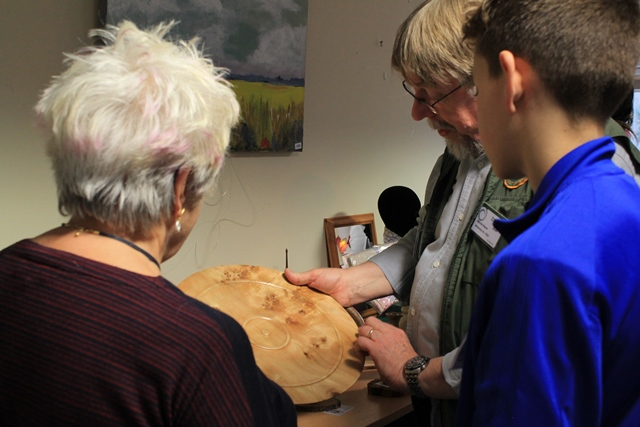 looking at lovely wood turning