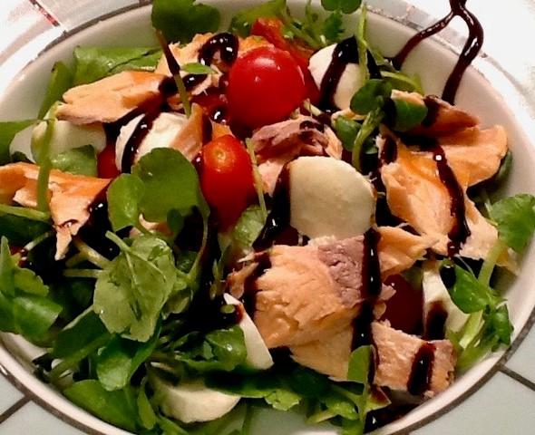 Watercress and Salmon Salad