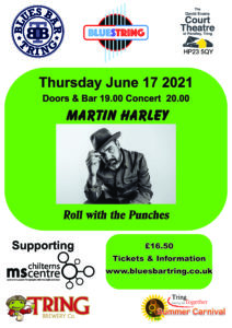 Event poster with a picture of Martin in the middle and text Thursday June 17 2021